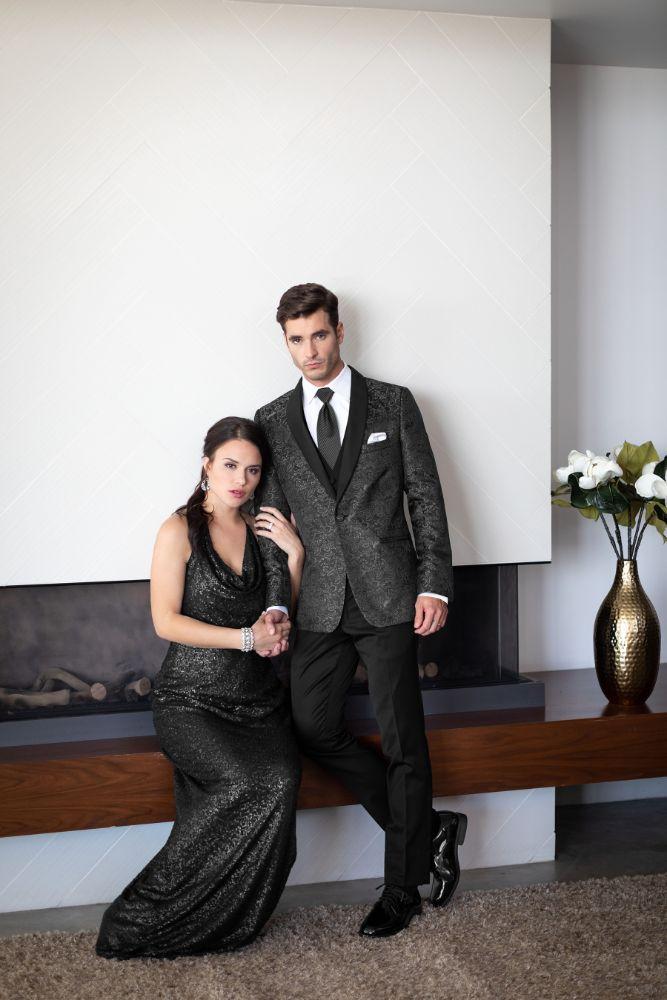 Prom Couple in formal wear