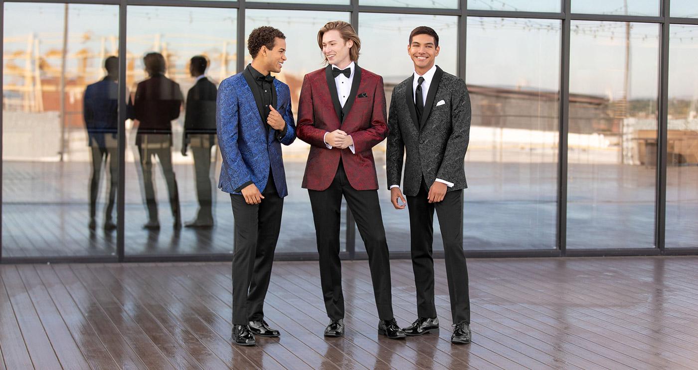 young men wearing tuxedos