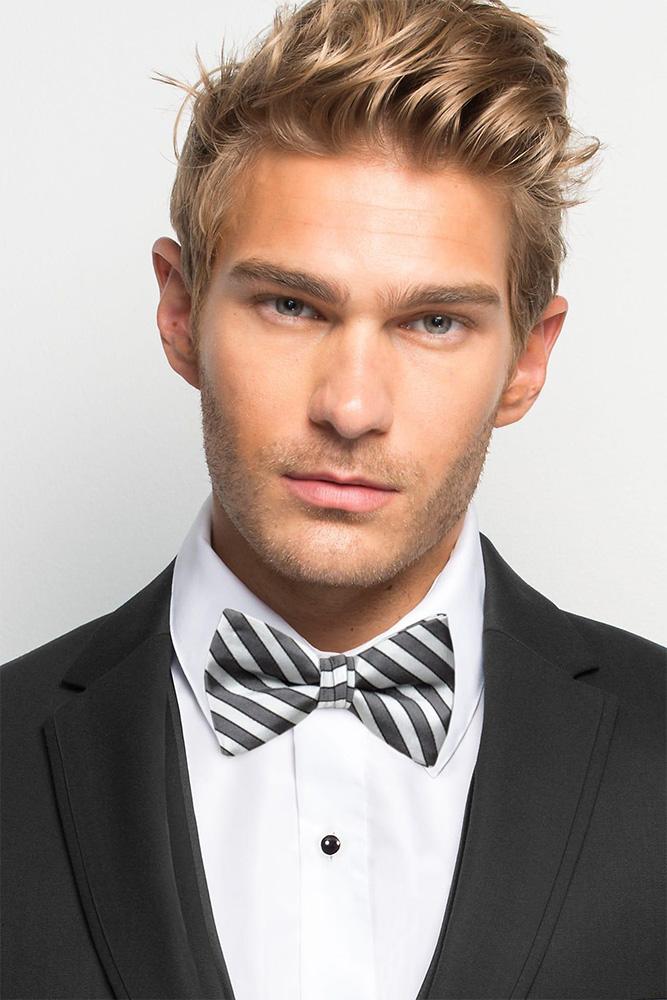 man in tux wearing a bow tie