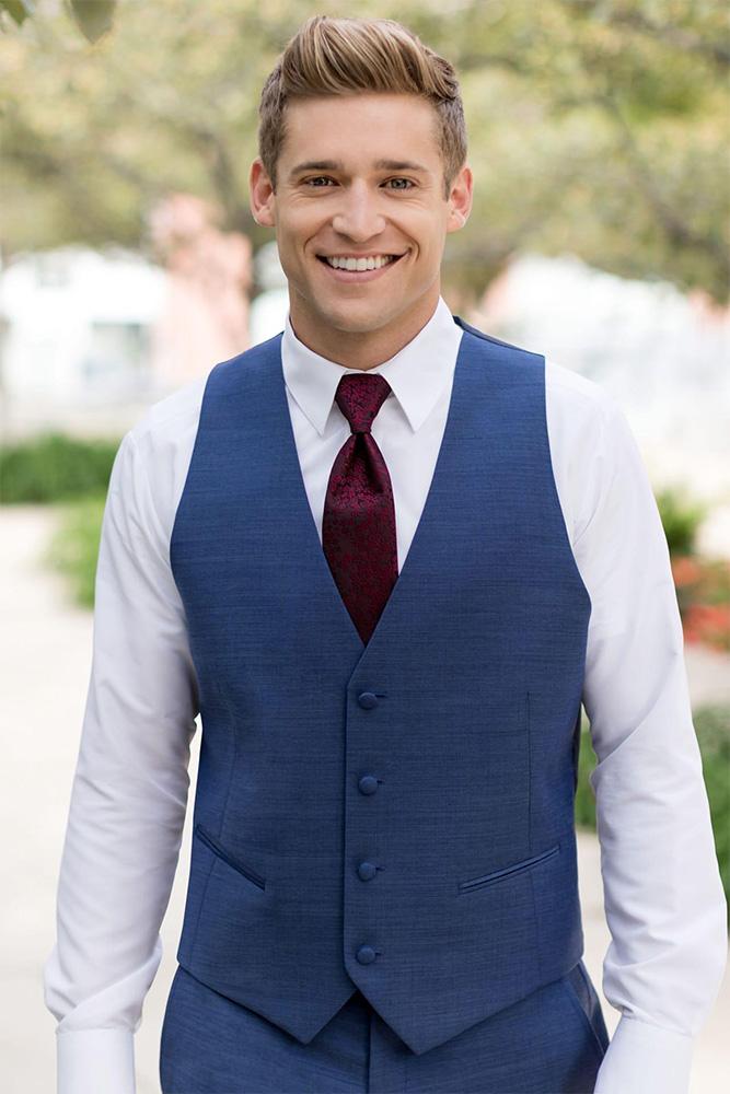 Man wearing vest and tie