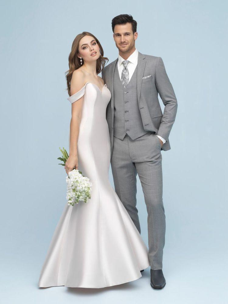 light grey suit by allure men's